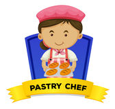 Job wordcard with pastry chef Royalty Free Stock Photo