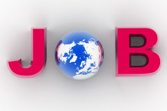 Job and world Stock Photography