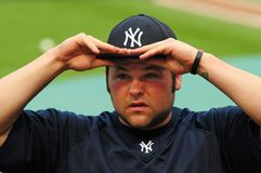 Joba Chamberlain, Yankees de New York Photographie stock libre de droits