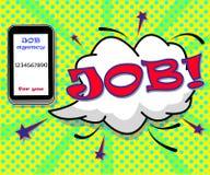 Jobagentur für Sie stock abbildung