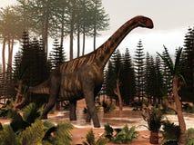 Jobaria dinosaur - 3D render Royalty Free Stock Photo