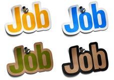 Jobaufkleber Lizenzfreie Stockbilder