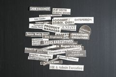 Jobb eller karriärbegrepp arkivbilder