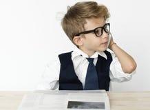 Jobb för affärsmanBoy Young Occupation dröm arkivfoto
