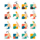 Jobbavatars vektor illustrationer