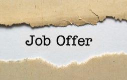 Jobberbjudande arkivfoto