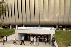 JobbFair för kandidater, Cluj Arena 2012 royaltyfria foton