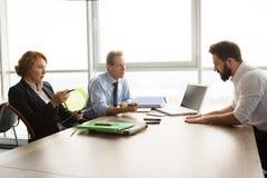 Jobbintervju i regeringsställning Royaltyfri Fotografi