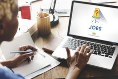 Jobbkarriär som hyr anställning som hyr begrepp royaltyfria bilder