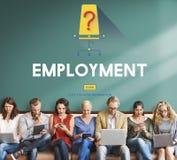 Jobbkarriär som hyr anställning som hyr begrepp fotografering för bildbyråer