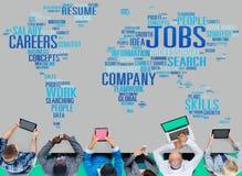 Jobbockupationen rusar rekryteringanställningbegrepp royaltyfri bild