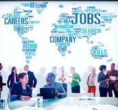 Jobbockupationen rusar rekryteringanställningbegrepp Royaltyfria Bilder