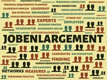 JOBENLARGEMENT - image with words associated with the topic RECRUITING, word, image, illustration Stock Photography