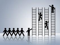 Jobförderung stock abbildung