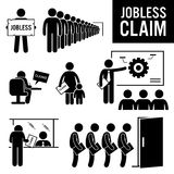 Jobless Claims Unemployment Benefits Clipart Royalty Free Stock Image