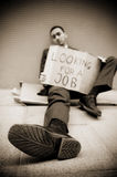 Jobless man Royalty Free Stock Image