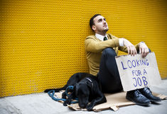 Jobless man royalty free stock images