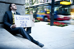 Jobless man royalty free stock photos