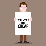 Jobless man Stock Photos