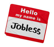 Jobless Name Tag. Hello My Name Is Jobless Tag Isolated on White Background. Tag Isolated on White Background Stock Image