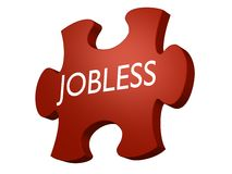 Jobless puzzle Stock Image