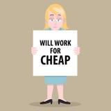 Jobless woman Stock Photo