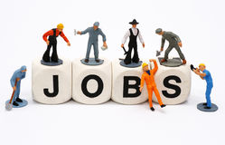 JOBS. Hard work to clean up royalty free stock images