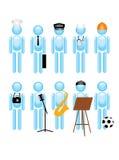 Jobs. Choice of profession, jobs,  illustration Stock Photos