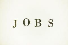 jobs Image libre de droits
