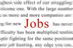 Jobs. Looking for a jobe worldwide Stock Photography