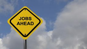 Jobs ahead stock footage