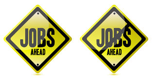 Jobs ahead Street sign Stock Photos