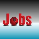 Jobs all around the world Stock Image
