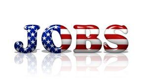 Jobs in Amerika lizenzfreie abbildung