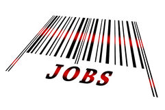 Jobs on barcode Royalty Free Stock Image