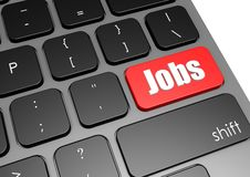 Jobs with black keyboard Stock Images