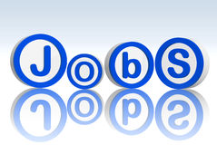 Jobs in blue circles Royalty Free Stock Image