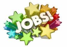 Jobs Career Hiring Positions Word Stars Stock Photos
