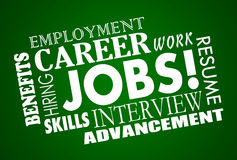 Jobs Career Interview Hiring Interview Words royalty free illustration