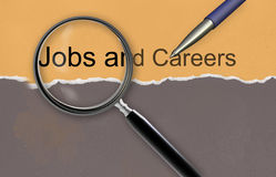 Jobs and careers. Made in 2d software Royalty Free Stock Images