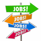 Jobs Careers Open Positions Hiring Signs Words Stock Photo