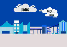 Jobs Cloud. royalty free illustration