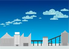 Jobs Clouds. Jobs and heavy industries vector illustration