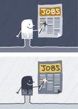Jobs colored cartoon. Hand drawn characters Stock Photo