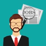 Jobs concept design. Vector illustration eps10 graphic Stock Photos