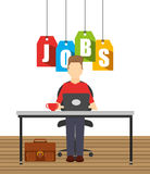 Jobs concept design Stock Image