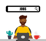 Jobs concept design. Vector illustration eps10 graphic Royalty Free Stock Photos