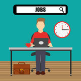 Jobs concept design Stock Photos