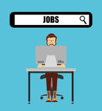 Jobs concept design. Vector illustration eps10 graphic Royalty Free Stock Image