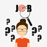 Jobs concept design. Vector illustration eps10 graphic Stock Images
